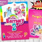 My Little Pony Invitation, My Little Pony Birthday Invitation   Free Printable My Little Pony Thank You Cards