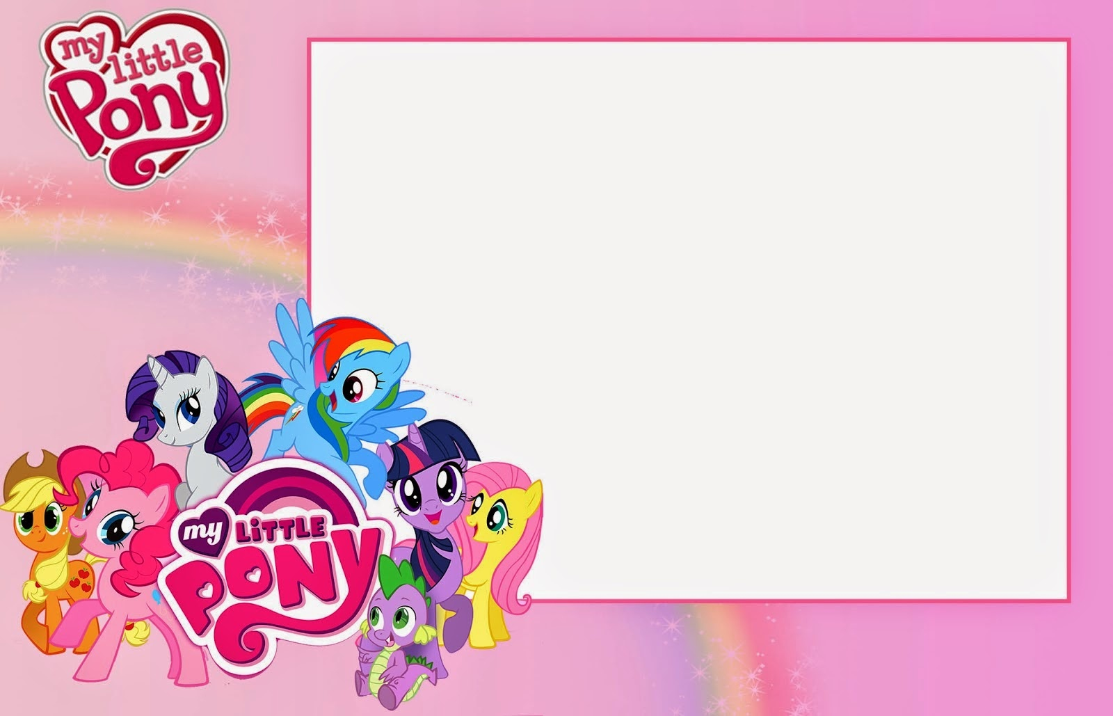 My Little Pony Party: Free Printable Invitations. - Oh My Fiesta! In - Free My Little Pony Party Printables