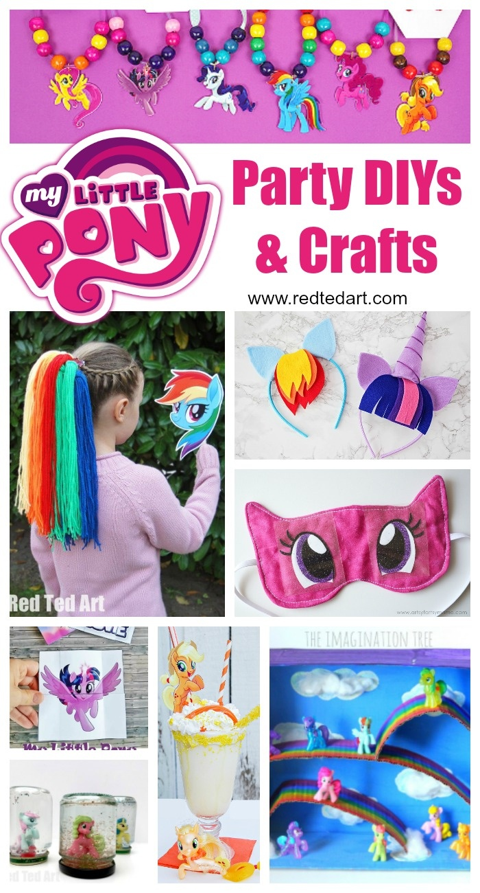 My Little Pony Party Ideas & Crafts - Red Ted Art - Free My Little Pony Party Printables