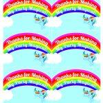 My Little Pony Rainbow Dash Birthday Party Printables | My Little   Free Printable My Little Pony Thank You Cards