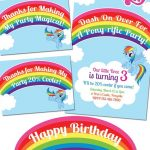 My Little Pony Rainbow Dash Birthday Party Printables | Party Ideas   Free Printable My Little Pony Thank You Cards