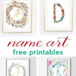 Name Art And Alphabet Printables {Free Printable Art}   Free Name Printables