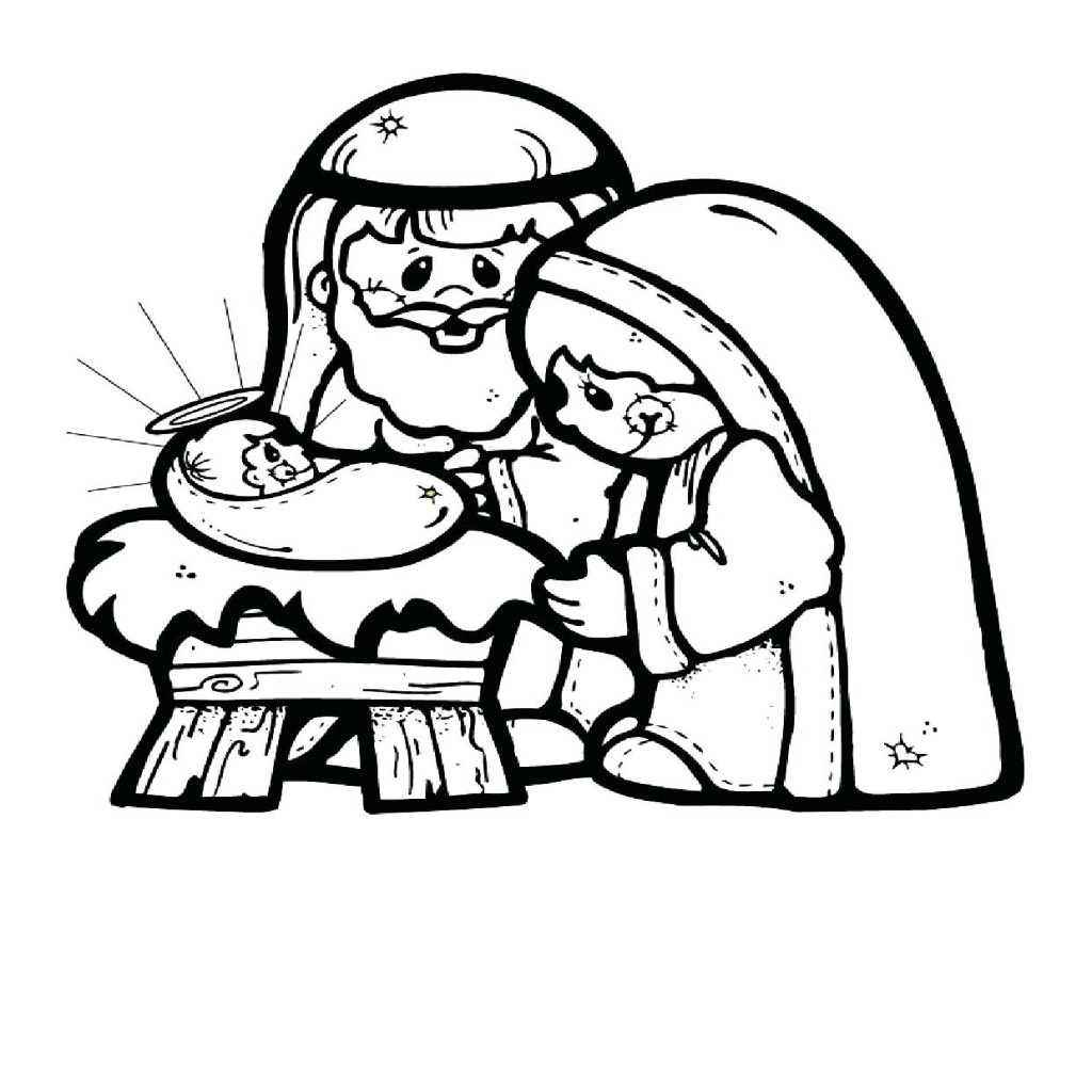 Nativity Coloring Pages   Free Download Best Nativity Coloring Pages - Free Printable Christmas Story Coloring Pages