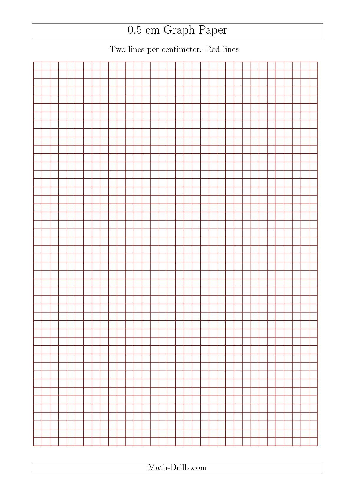 New 2015-09-17! 0.5 Cm Graph Paper With Red Lines (A4 Size) Math - Free Printable Graph Paper Black Lines