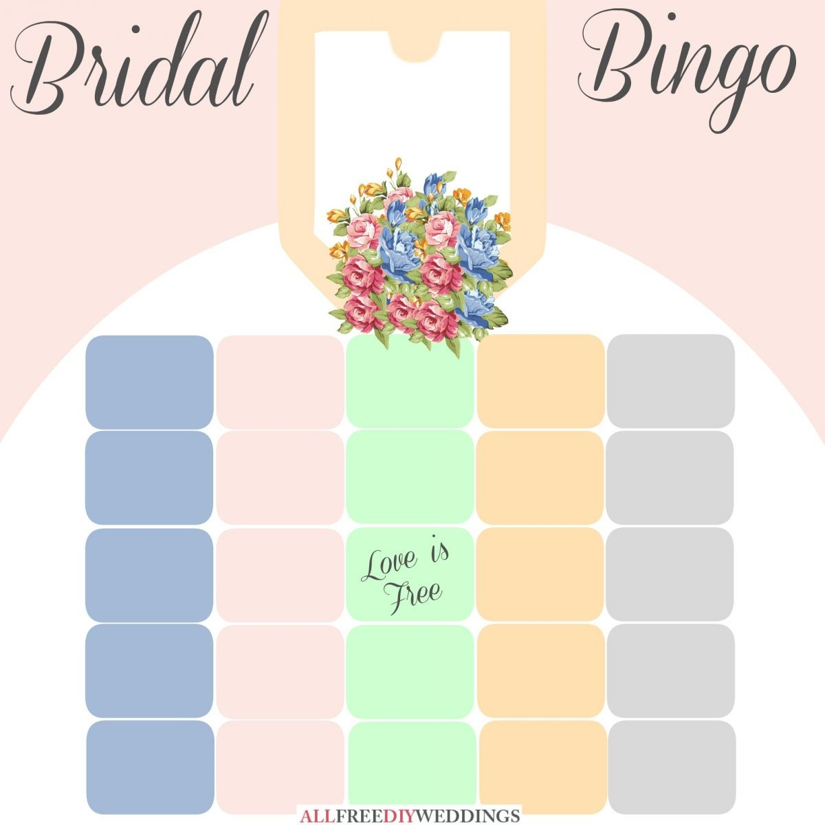 New Bridal Bingo: Free Bridal Shower Games | Allfreediyweddings - Free Printable Bridal Bingo Sheets