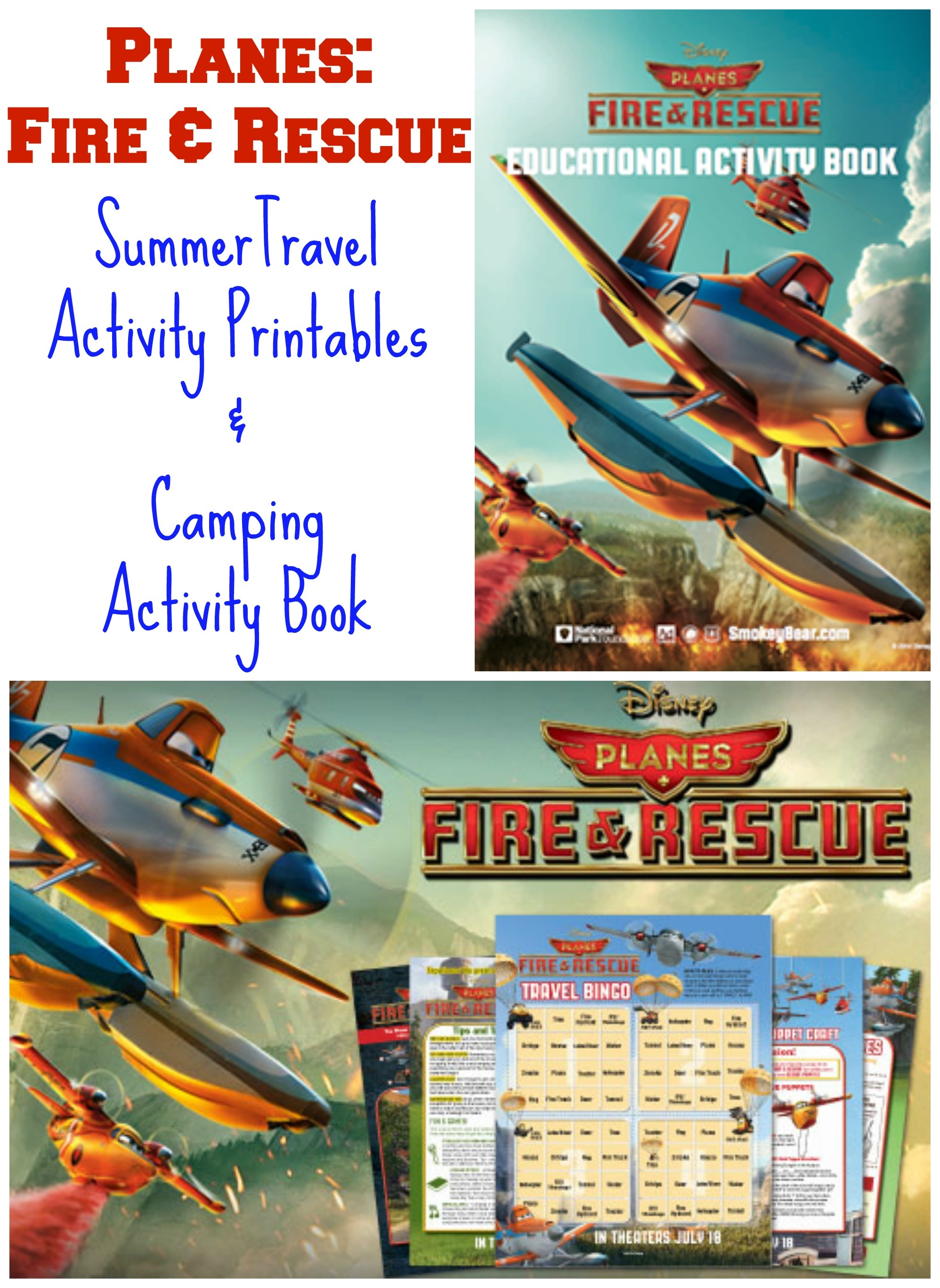 New Free Planes: Fire & Rescue Activity Printables & Camping Book - Free Planes Printables