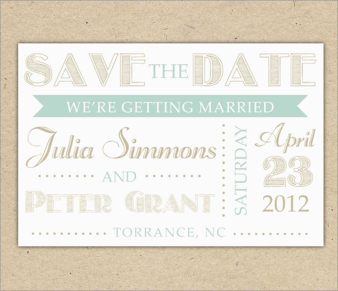 New Free Printable Save The Date Invitation Templates | Best Of Template - Free Printable Save The Date Templates