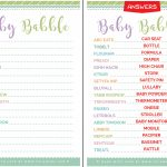 New Mom Approved Cute Free Printable Baby Shower Games   Free Printable Baby Shower Games With Answers