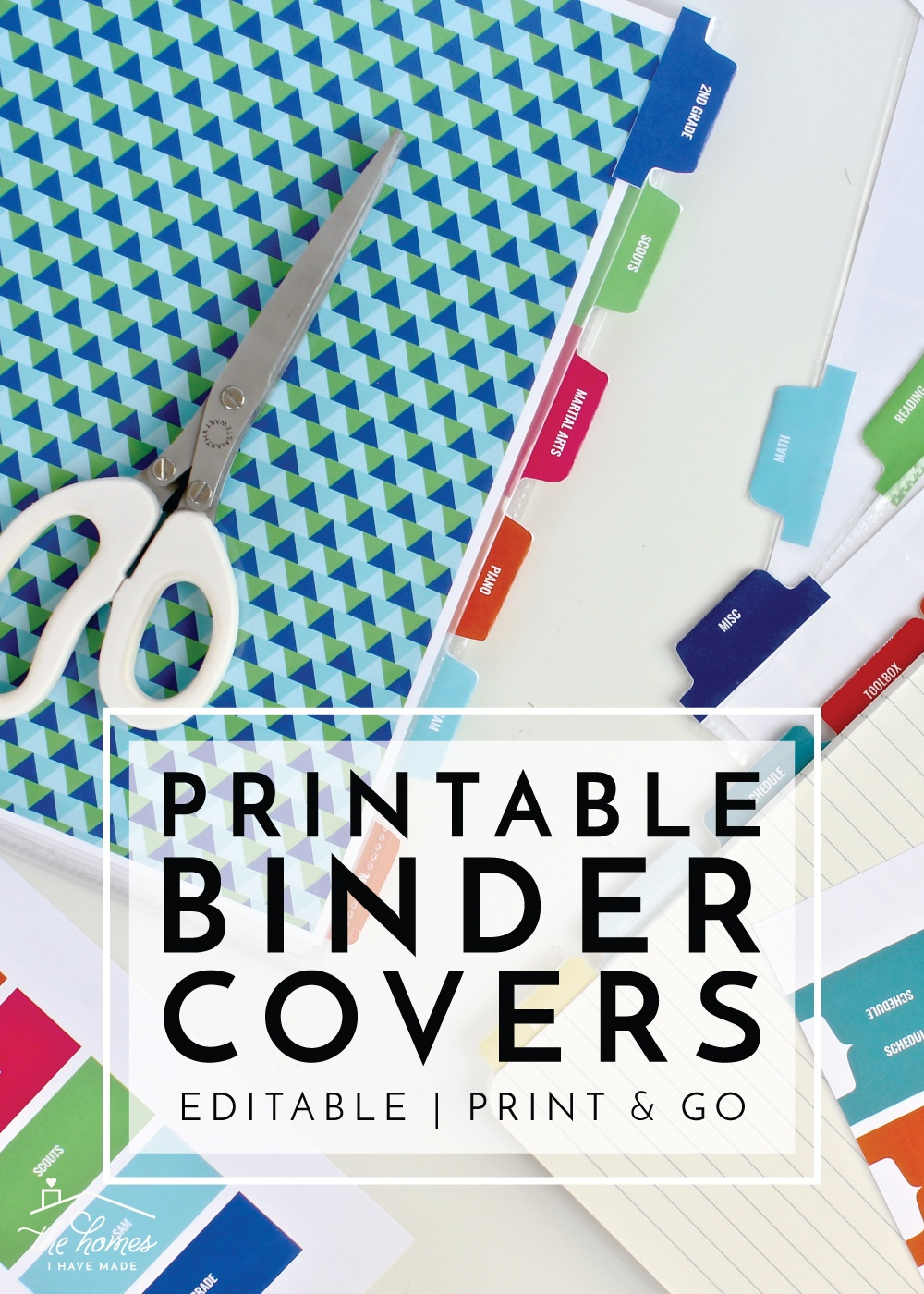 New To The Organization Toolbox: Printable Binder Covers And Tabs - Free Editable Printable Binder Covers And Spines