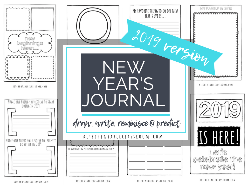 New Years' Coloring Pages- Free Printable Journal For Kids - The - Free New Year's Resolution Printables