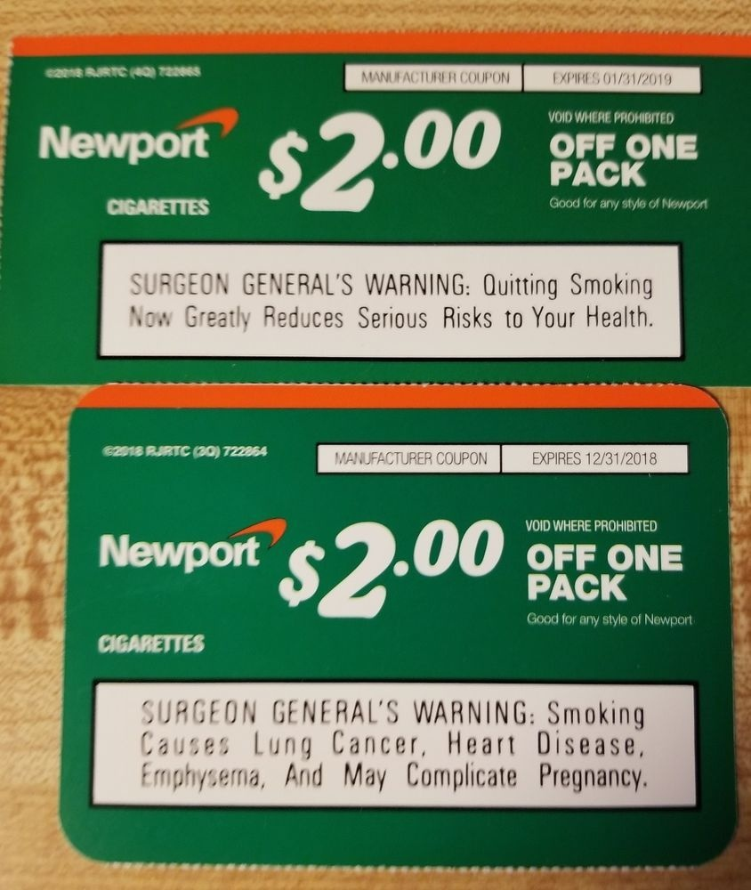Newport Cigarette Coupons (2) Each $2.00 Off A Pack In 2019 | Places - Free Printable Newport Cigarette Coupons