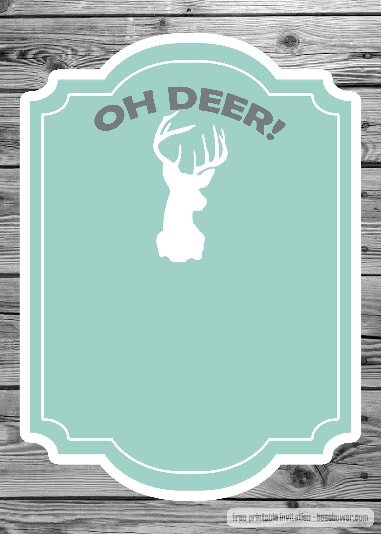 Nice Free Baby Shower Invitation- The Deer Template   Beeshower - Free Printable John Deere Baby Shower Invitations