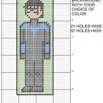 Nightwing 8 Bit Bookmark Plastic Canvas Patternmichael Kramer   Free Printable Plastic Canvas Patterns Bookmarks