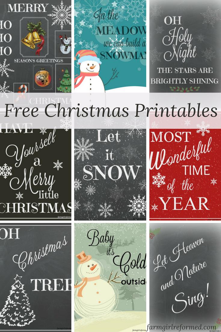Nine Free Holiday Printables | Best Of Farm Girl Reformed - Free Holiday Printables