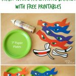 Ninja Turtle Paper Plate Banner With Free Printables   Free Ninja Turtle Printables