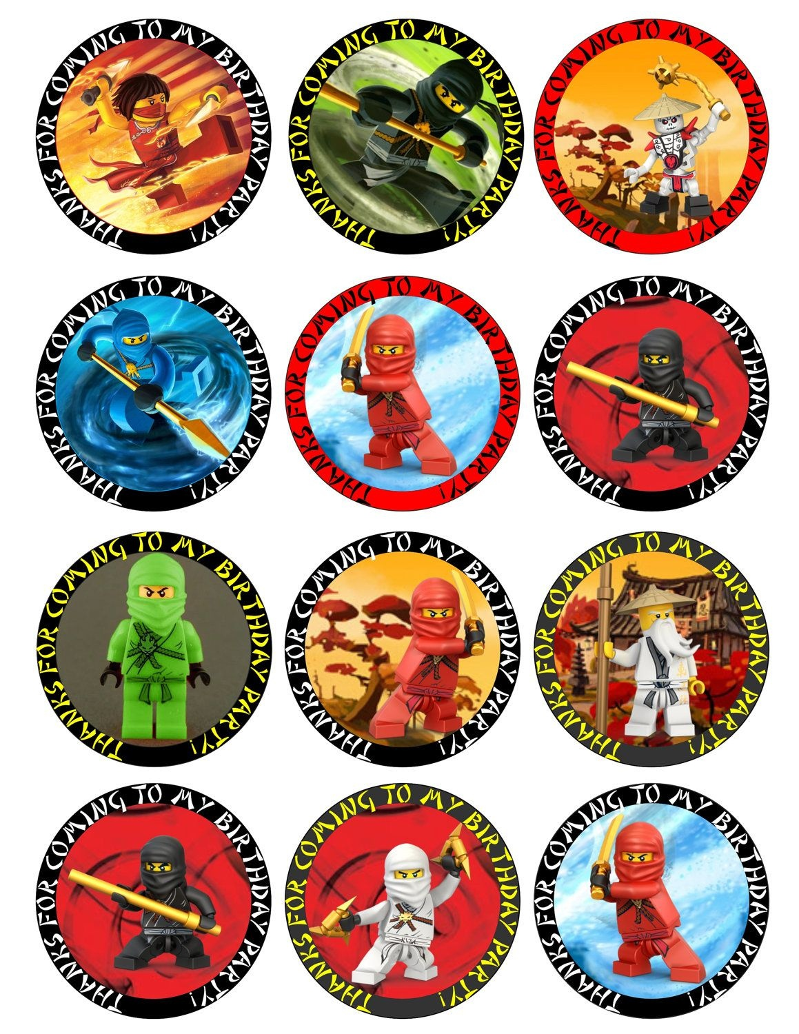 Ninjago Free Printable Toppers, Labels, Images And Invitations - Free Printable Lego Cupcake Toppers
