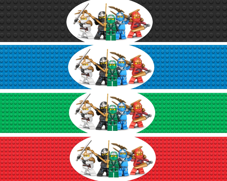 Ninjago Water Bottle Labels | Lego Ninja Printables | Lego Birthday - Free Lego Water Bottle Printables