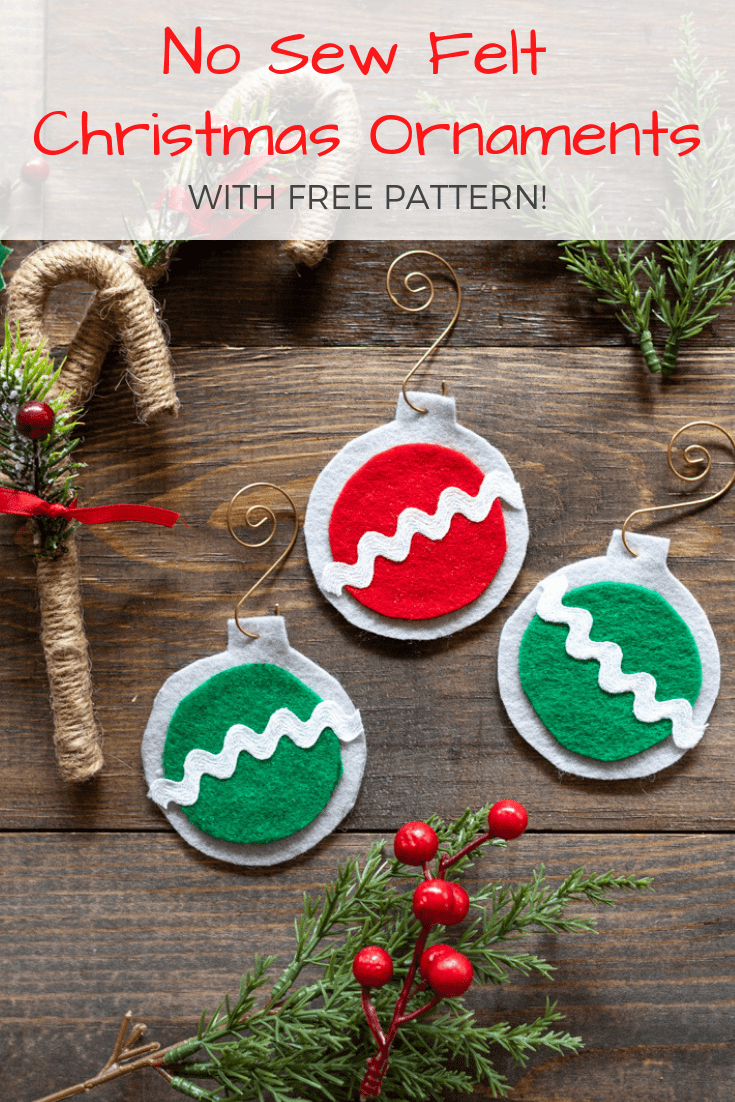 No Sew Easy Felt Christmas Ornaments - The Artisan Life - Free Printable Christmas Decorations