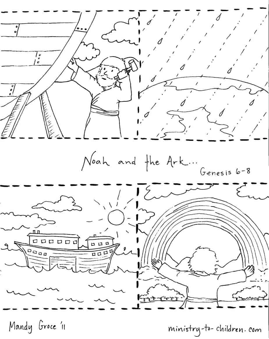 Noah And The Ark Coloring Pages - Free Noah's Ark Printables