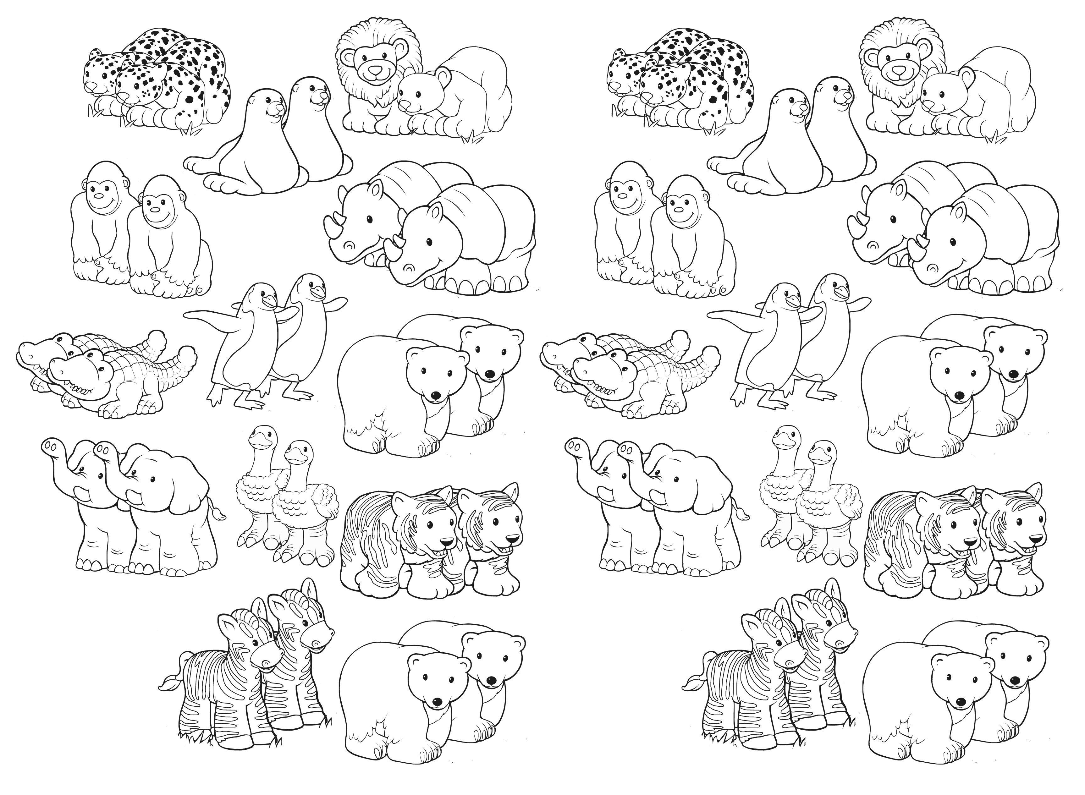 Noah's Ark Free Printable Of Animal Pairs | Godsdienstonderwijs - Free Noah's Ark Printables