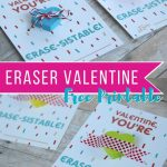 """Non Candy Printable Valentine Perfect For The Classroom: """"You're   Free Printable School Valentines Cards"""