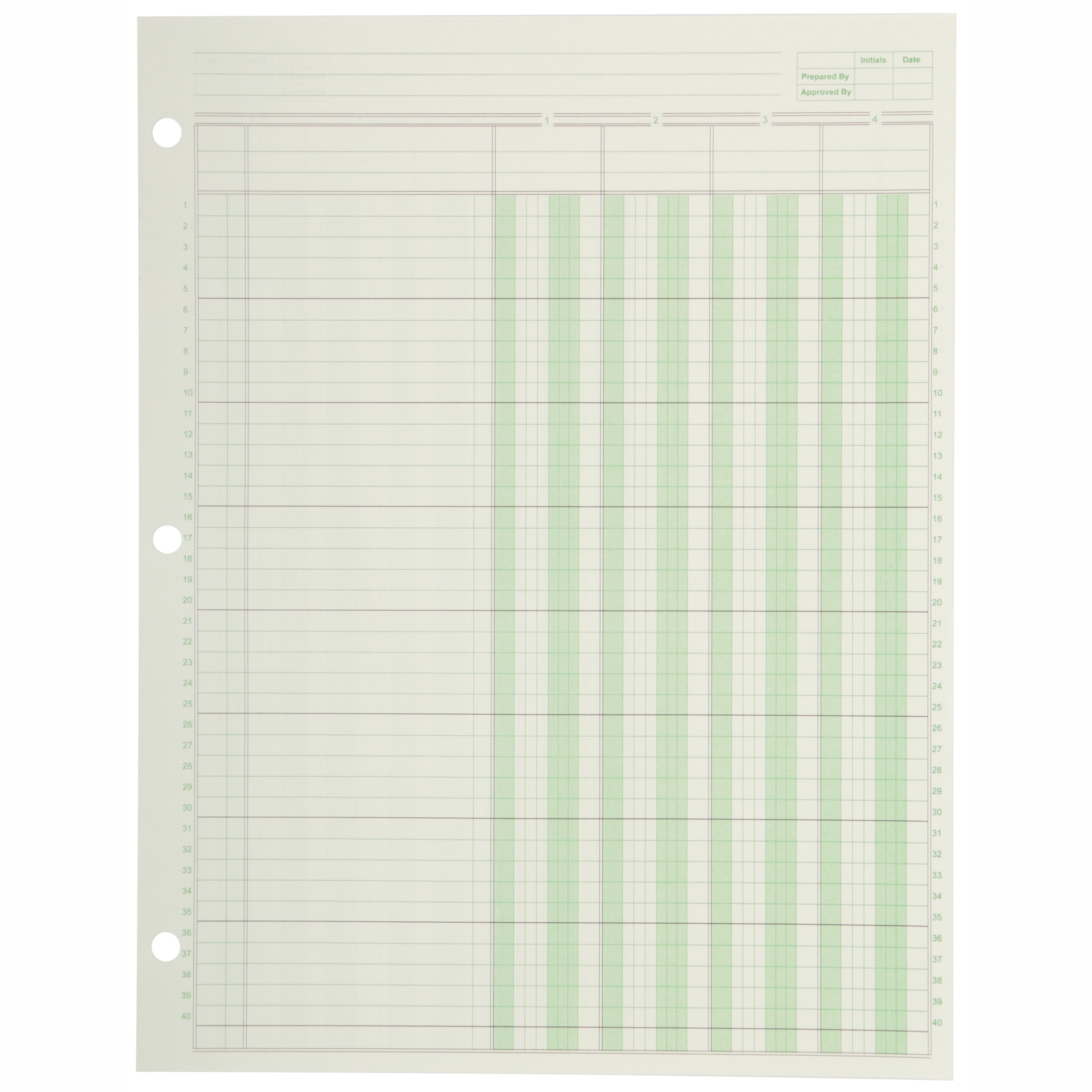 Norcom Columnar Paper Pad 50 Sheets Wrapper - Walmart - Free Printable Column Paper