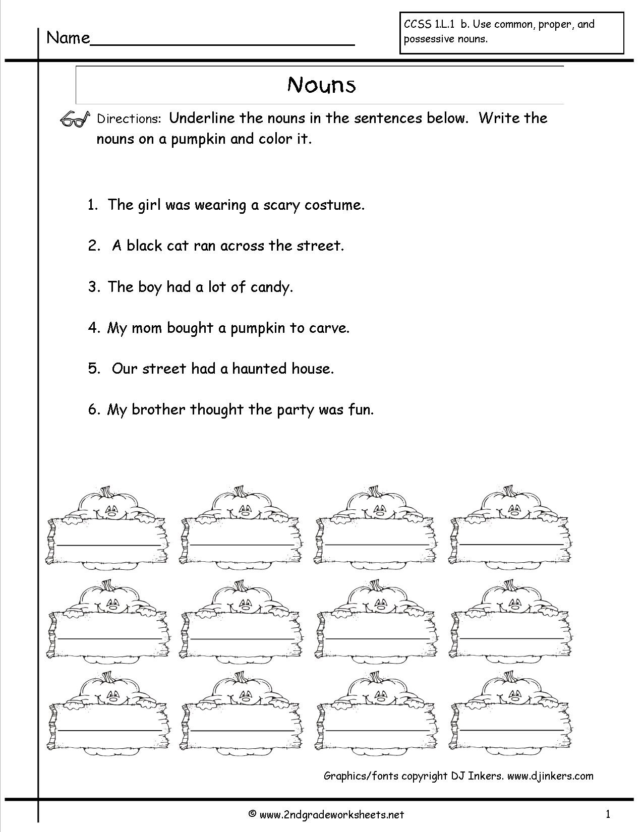 Nouns Worksheets And Printouts - Free Noun Printables