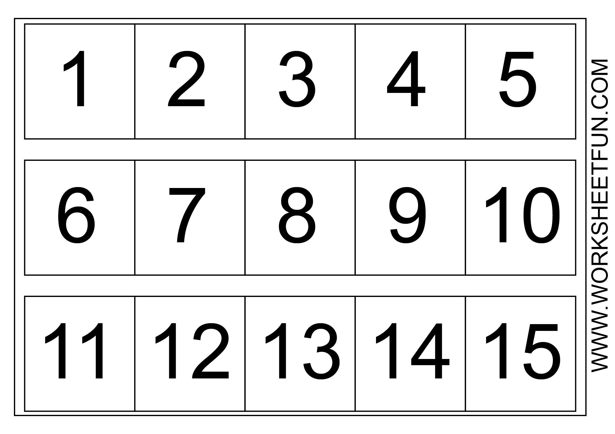 Number Chart 1-15 | Kindergarten Worksheets | Number Chart, Numbers - Free Printable Number Chart 1 10