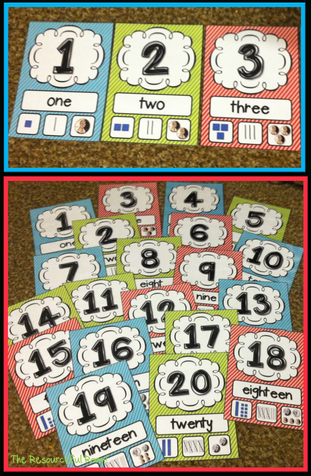 Number Posters   Classroom Freebies!   Classroom Posters, Classroom - Free Printable Number Posters