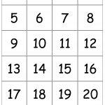 Number+Cards+1 20 | Kindergarten Number Sense | Numbers Kindergarten   Free Printable Number Bingo Cards 1 20