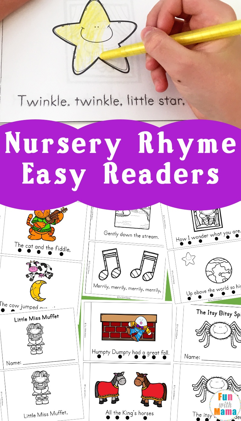 Nursery Rhyme Easy Reader Books - Fun With Mama - Free Printable Nursery Rhymes