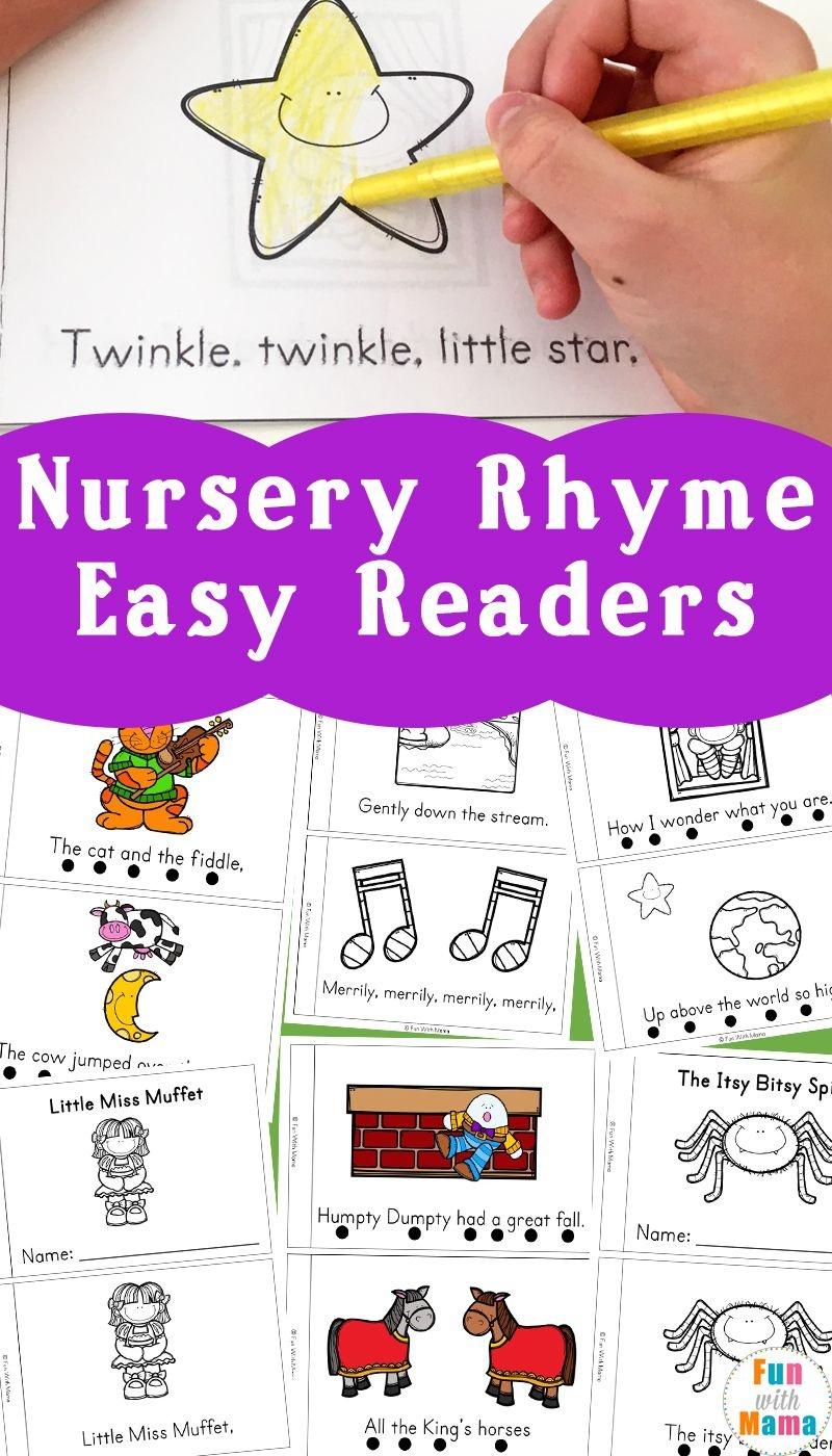 Nursery Rhyme Easy Reader Books | Little Books | Nursery Rhymes - Free Printable Easy Readers For Kindergarten
