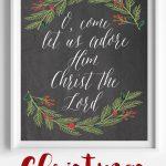 O, Come Let Us Adore Him Christmas Free Printable   Free Printable Christian Christmas Gift Tags