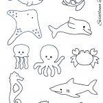 Ocean Animals Sea Animals Template | Quiet Books, Hints Tips & Ideas   Free Printable Sea Creature Templates