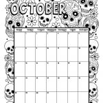 October 2018 Coloring Calendar Page | Products I Love | October   Free Printable October Coloring Sheets