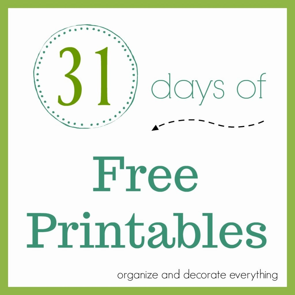 October 31 Printable - Organize And Decorate Everything - Free October Printables