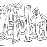 October Coloring Pages For Kids | Kids Calendar | Halloween Coloring   Free Printable October Coloring Sheets