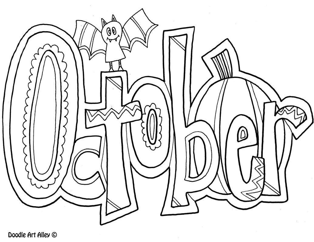 October Coloring Pages For Kids | Kids-Calendar | Halloween Coloring - Free Printable October Coloring Sheets