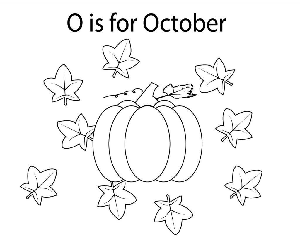October Coloring Pages Seasons Pinterest Happy Pdf To Print - Free Printable October Coloring Sheets