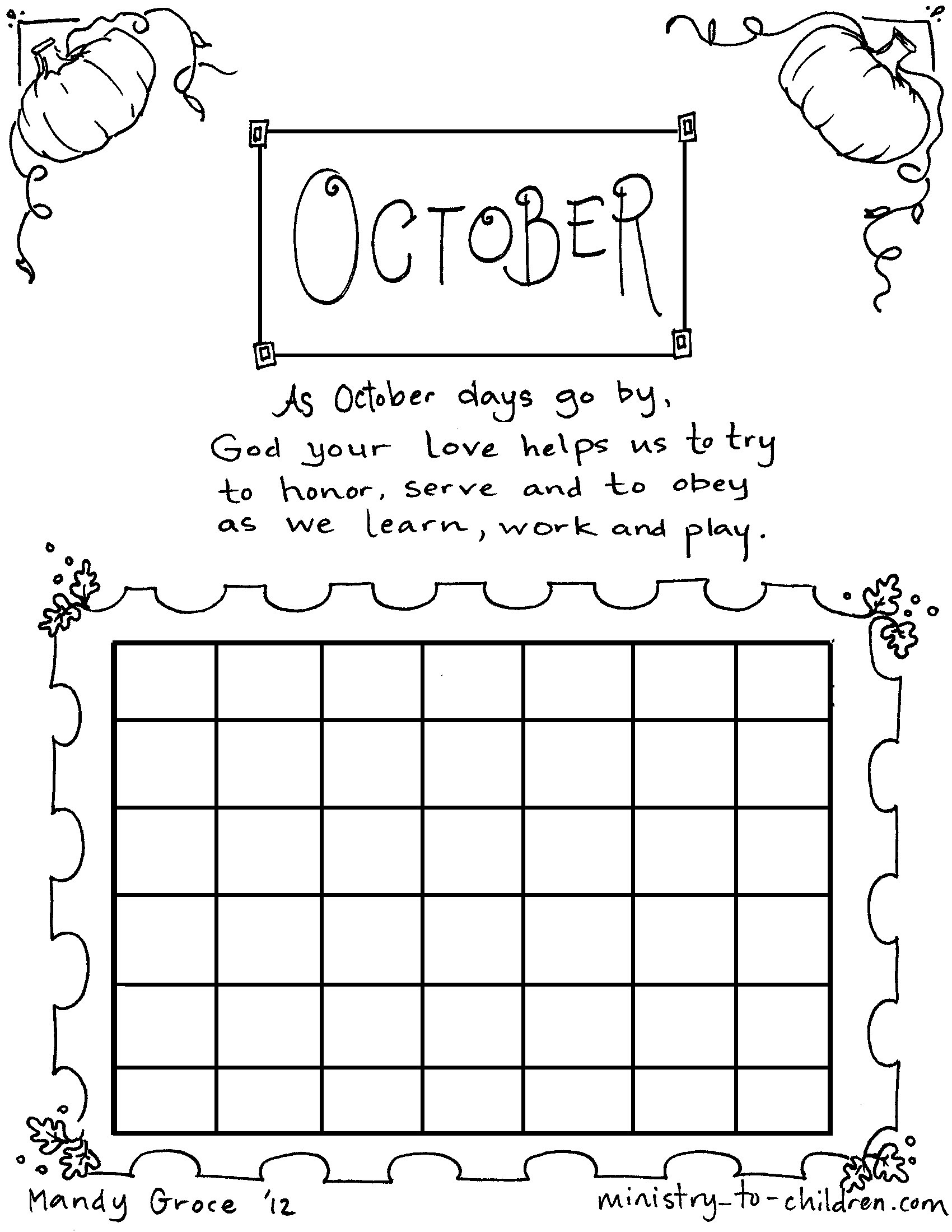 Octoberloring Pageslouring Pdf Happy Book Free Printable | Coloring - Free Printable October Coloring Sheets