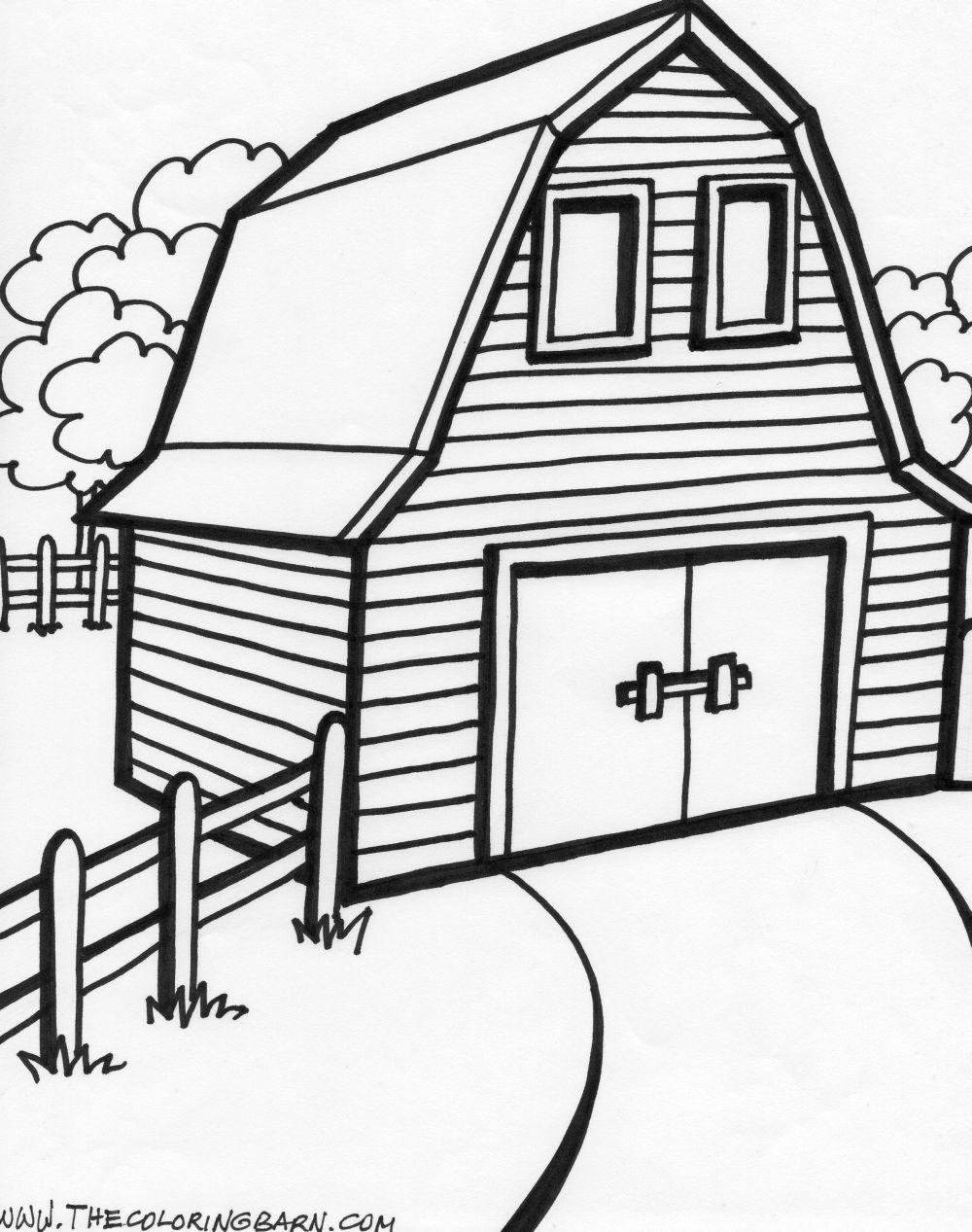 Old Macdonald's Barn   Party Ideas   Farm Animal Coloring Pages - Free Printable Barn Coloring Pages