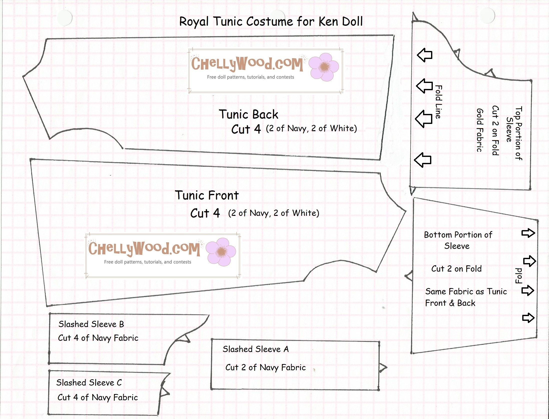 Old Pattern Page – Free, Printable Doll Clothes Sewing Patterns For - Free Printable Sewing Patterns