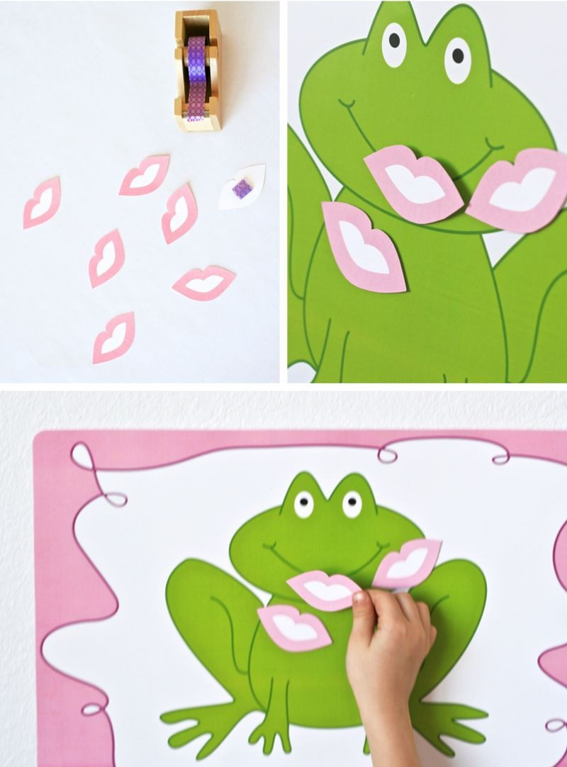 One Charming Party | Birthday Party Ideas › Pin The Kiss On The Frog - Pin The Kiss On The Frog Free Printable