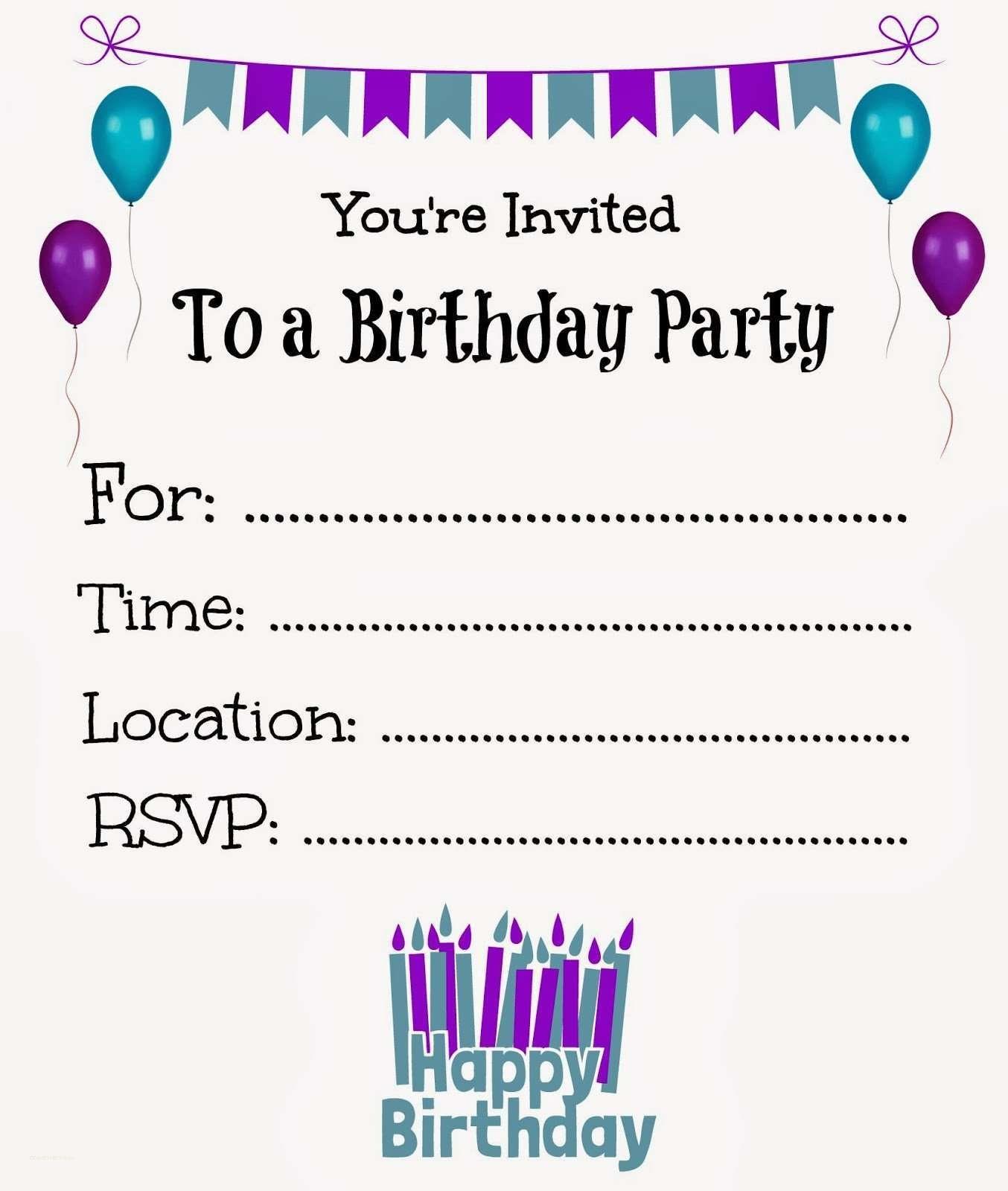 Online Birthday Invite Templates - Tutlin.psstech.co - Invitations Templates Online Free Printable