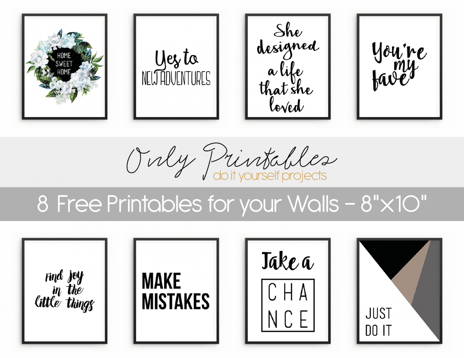 Only Printables   8 Free Printables For Your Walls - Free Printable Art Pictures