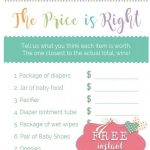 """Only The Easiest, Cutest """"price Is Right Baby Shower Game"""" Template   Free Printable Price Is Right Baby Shower Game"""