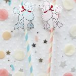 Oodles Of Poodles Straws | Birthday Parties | Sock Hop Party, Poodle   Free Printable Poodle Template