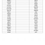 Open And Closed Syllable List.pdf | Wilson Fundations | Syllable   Free Printable Open And Closed Syllable Worksheets