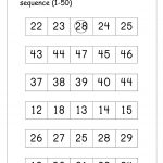 Ordering Numbers Worksheets, Missing Numbers, What Comes Before And   Free Printable Tracing Numbers 1 50