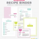Organize Your Favorite Recipes Into A Diy Recipe Book With These Fun   Free Printable Recipe Binder Kit